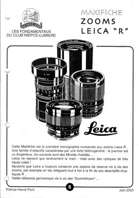 Zooms Leica